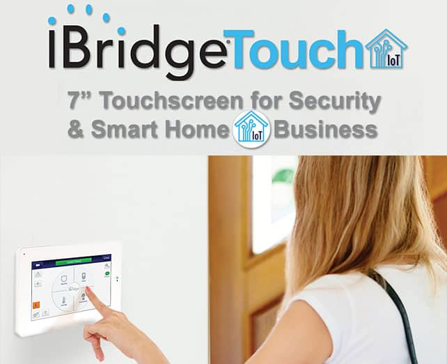 We install and program Napco iBridge Touchscreen For Smart Home/Business Automation