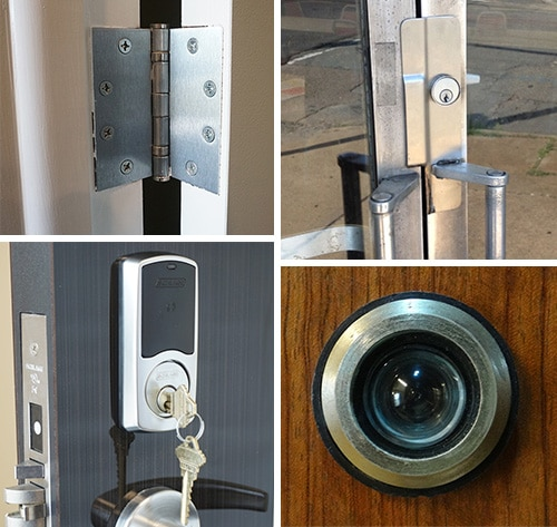 Door hardware collage