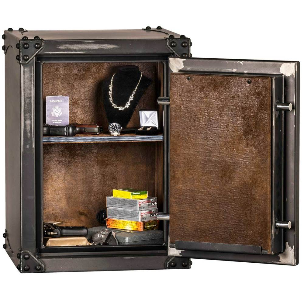 Inside view of a Rhino gun safe